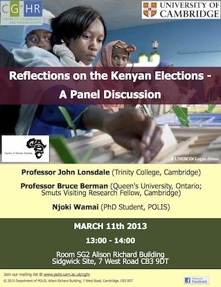 kenyan elections poster