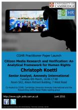 Christoph Koettl report launch