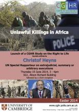 Unlawful Killings Launch Event poster (rev)